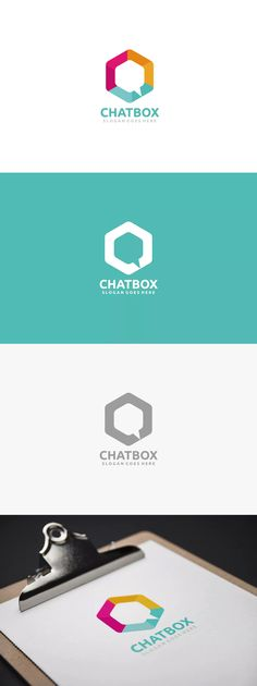 Chat Box Logo Template AI, EPS