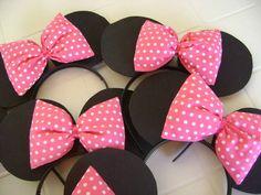 Tiara da Minnie rosa (algodão)
