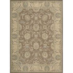 Nourison Persian Empire Mocca Area Rug Rug Size: