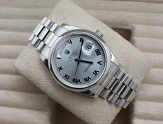 Rolex President, Day-Date in Platinum with glacier blue dial. Ref: #118206. In stock with box and paperwork! #Rolex #President #Rolexwrist #Swiss #Luxury #Collector #Watchporn #Watchlink