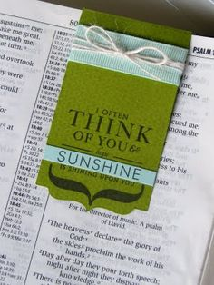 love the bookmark - materials: paper, ribbon, die-cut machine and all sorts of stamps; can be used on Bible.