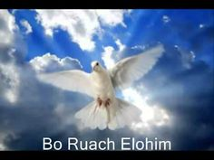 Bo Ruach Elohim,  u'male et nafshi.  Hadrech otanu k'yeladim  rak b'cha anu chafetzim.  Anachnu mazminim otcha lavo  Lyrics: English:   Come, Holy Spirit, come.  Come and fill us now.  For You are welcome in this place.  Show Your mercy and Your grace.  Come and fill us, Holy Spirit come.   chorus: Baruch haba, baruch haba Ruach Elohim Baruch haba, baruch haba Welcome Spirit of God.