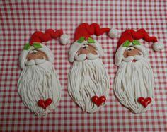 ENVÍO GRATIS Santa tradicional de la arcilla de por ClayBabiesInc