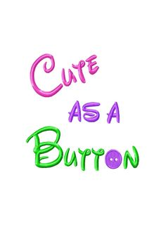 Cute as a Button Fill Machine Embroidery by HippityHopEmbroidery