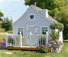 Amish Made Gingerbread Cottage Playhouse Kit