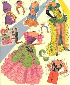 June Allyson reprint of 1953 - Bobe Green - Picasa Webalbum Vintage Paper Dolls, Antique Dolls, My Size Barbie, Paper Doll Costume, June Allyson, Paper Dolls Printable, Bobe, Cute Cuts, Crafty Craft
