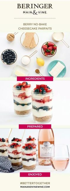 @sideofsweet whips up a 'parfait' summertime treat, just in time for Memorial Day! These Berry No-Bake Cheesecake Parfaits are ready to eat in minutes.  Do you have a go-to recipe? Make your creation Pinterest-ready with our Prepare & Share tool.