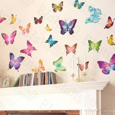 Butterfly World - Wall Decals Stickers Appliques Home Decor by Blancho Bedding, http://www.amazon.com/dp/B004BOUVYG/ref=cm_sw_r_pi_dp_EPu1pb00C3Y04