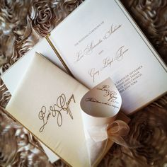 Petal Cones and Church Programs designed at The Wedding Company in Manhasset, New York