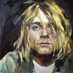 Kurt Cobain Painting, Kurt Cobain Art, Kurt Cobain Photos, Pencil Drawings, Art Drawings, Face Photography, Art Inspo, Street Art, Artsy