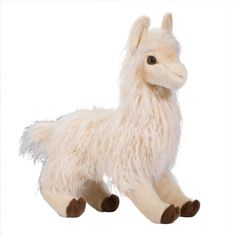 Oo La La the Large Plush White Llama by Douglas at Stuffed Safari (110 BRL) ❤ liked on Polyvore featuring plushies, stuffed animals, baby, llama and toys