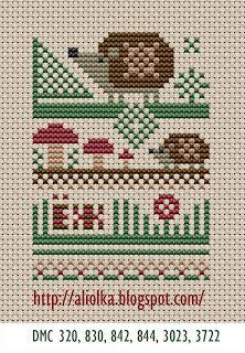 Hedgehog Cross-Stitch Pattern
