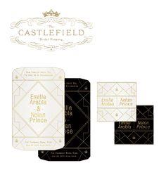 Castlefield Bridal • Art Deco Invitation Design www.castlefieldbridal.com www.sophietaylor.com