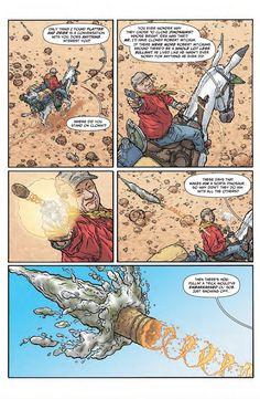 The Shaolin Cowboy Comic Book Pages, Comic Page, Comic Books Art, Book Art, Geof Darrow, Balloon Words, Mike Mignola, Short Comics, Comic Styles