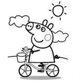 peppa pig coloring pages free online printable coloring pages, sheets for kids. Get the latest free peppa pig coloring pages images, favorite coloring pages to print online by ONLY COLORING PAGES. Peppa Pig Coloring Pages, Cartoon Coloring Pages, Coloring Pages To Print, Printable Coloring Pages, Coloring Pages For Kids, Coloring Books, Coloring Sheets, Peppa Pig Drawing, Peppa Pig Painting