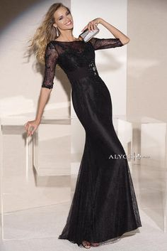 Alyce Jean De Lys Collection - 29645  Black over pink