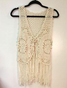 Crochet Vest with Fringe