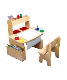 Take a look at this Art Table & Bench by Anatex on #zulily today!