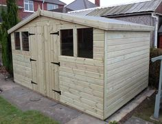 garden shed tanalised heavy duty 12x10 reverse apex 13mm tg 3x2
