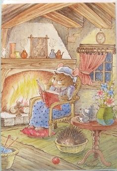 Mouse Greeting Cards by Pierre Cornuel children's book illustration Book Images, Children's Book Illustration, Cute Art, Childrens Books, Illustrators, Cute Pictures, Fairy Tales, Brambly Hedge, Cute Animals