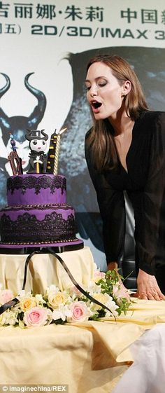 Maleficent birthday cake . Angelina -  For all your cake decorating supplies, please visit craftcompany.co.uk