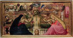 Maestro della Madonna Strauss - Cristo in pietà tra la Madonna e santa Maria Maddalena con simboli della Passione - Firenze, Galleria dell'Accademia