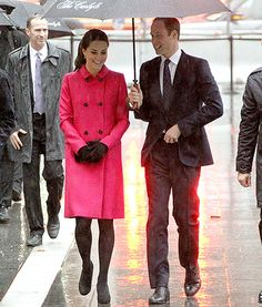 Kate Middleton Pops in a Pink Coat on Rainy Day in NYC: Photos - Us Weekly