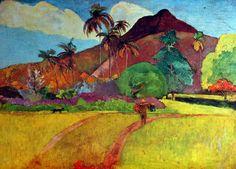 Paul Gauguin - Post Impressionism - Tahiti - Paysage - Landscape - 1891