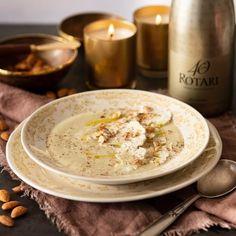 Almonds, Hummus, Candle Jars, Soups, Ethnic Recipes, Cream, Candle Mason Jars, Almond Joy, Soup