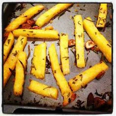 My Student Food: Garlic and Rosemary Polenta Chips