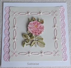Rose Stitching, Rose, Home Decor, Create, Cards, Embroidery, Costura, Pink, Decoration Home