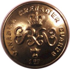 Canadian Grenadier Guards - Military uniform button for sale Queen Elizabeth Crown, Queen Crown, Buttons For Sale, Armed Forces, Museum, Canada, Military, Brass, Personalized Items