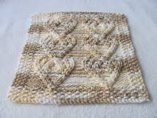 Roxee's knitting fun: Cabled Heart cloth