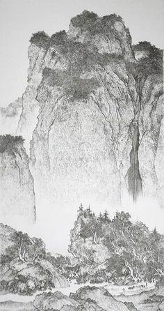 ピンを打ち付けて描くアート「Chen Chun-Hao: Mosquito Nail Paintings」