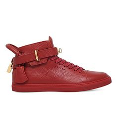 BUSCEMI 100Mm Grain-Leather Trainers. #buscemi #shoes #trainers