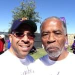 Dad (Clarence) and Me (Euri) at the Alzheimer's walk 2013