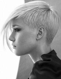 rövid női frizurák hosszú frufruval - aszimmetrikus rövid női frizura