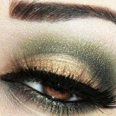 I think I need some gold eyeshadow!