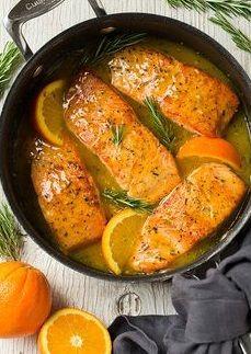 Salmón glaseado a la orange | Olio Fino
