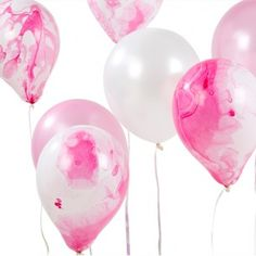 Pink Marble Mix Balloons - New In - Party Supplies
