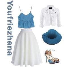 Summer #youfriezhana by youfriezhana-stardoll on Polyvore featuring polyvore, fashion, style, Zara, maurices, Chicwish and Charlotte Olympia