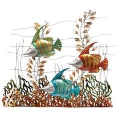 Submerge Fish Metal Wall Sculpture