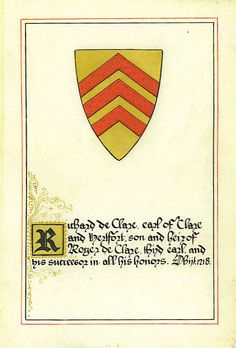 "Richard de Clare In my family tree.. Turnbridge Castle in Kent, England. ""Signed"" the Magna Carter."