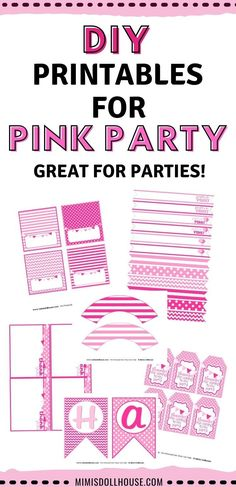 Looking for a fun and simple party theme for a girl? This easy pretty in pink party package is great for celebrating your girly girl! #girlparty #girlbirthday #birthdayideasgirl Birthday Party Treats, 1st Birthday Party For Girls, 1st Birthday Party Decorations, Party Package, Pink Parties, Party Photos, Party Printables, Girly Girl, Pretty In Pink