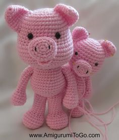 Big Piggy Little Pig New Pattern Coming ~ Amigurumi To Go. Veel dieren patronen