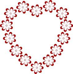 Pink Flower Border | Pink Blue Flower Border clip art - vector clip art online, royalty ...