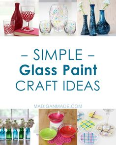 Love this list of over 40 different ways to paint glass with paint. #glasspainting #glass #painting