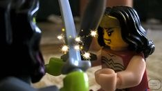 It a time of clash of the champions.  #Gamora #GuardiansOfTheGalaxy #WonderWoman #JusticeLeague #LEGO #Marvel #DCComic