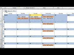 Outlook 2010: Managing Calendars in Outlook 2010 - YouTube