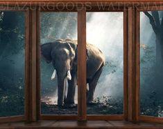Jungle wallpaper | Etsy